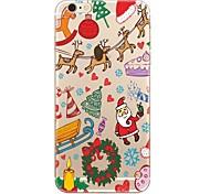 Недорогие -Кейс для Назначение Apple iPhone X iPhone 8 iPhone 8 Plus Прозрачный С узором Кейс на заднюю панель Рождество Мягкий ТПУ для iPhone X