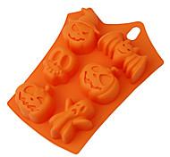 Недорогие -Хэллоуин тыква торт плесень 6 полостей тыквы призрак летучая мышь форма украшения инструменты