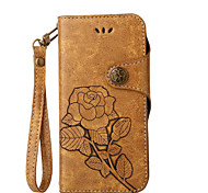 cheap -Case For Nokia Lumia 630 Nokia Lumia 640 Nokia Card Holder Wallet with Stand Flip Pattern Full Body Cases Flower Hard PU Leather for