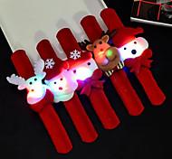 Недорогие -5pcs / set рождественские игрушки светящиеся wristbands партия украшают поставкы новизны проблескивая браслет круга clap