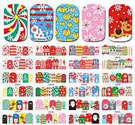 1 Nail Art Sticker  Pattern Accessories Grooming Art Deco/Retro Water Transfer Sticker Water Transfer Decals Cartoon Christmas New Year