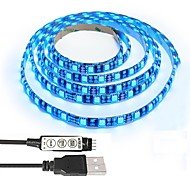tv kit de computadora de luz de fondo caso 5050 2 m rgb usb led luz de tira con 5 v cable usb y mini controlador para tv / pc / laptop