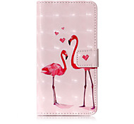 cheap -Case For Apple iPhone X iPhone 8 Card Holder Wallet with Stand Flip Pattern Full Body Cases Flamingo Hard PU Leather for iPhone X iPhone