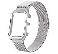 Недорогие -нержавеющая сталь замена ремешок iwatch магнитная лента с металлической крышкой корпуса для серии часов яблока 2 серии 1-42 мм (серебро)