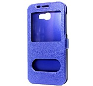 cheap -Case For Samsung Galaxy J5 (2017) J3 (2017) Wallet with Stand with Windows Flip Full Body Cases Solid Color Hard PU Leather for J7 Prime