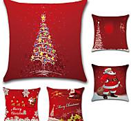cheap -5 pcs Cotton/Linen Pillow Case Pillow Cover,Christmas Fashion Novelty Traditional/Classic Euro Retro Christmas