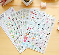 Недорогие -6 шт / набор детей дневник стикер телефон стикер записки наклейки