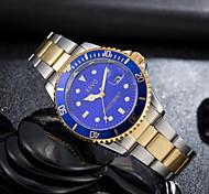 Hombre Reloj de Moda Reloj de Pulsera Reloj Deportivo Reloj Militar Reloj de Vestir Cuarzo Calendario Acero Inoxidable Banda Encanto