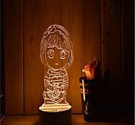 1 Set Of 3D Mood Night Light Hand Feeling Dimmable USB Powered Gift Lamp Girl