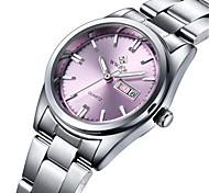 Damen Armbanduhren für den Alltag Modeuhr Kleideruhr Armbanduhr Quartz Kalender Edelstahl Band Freizeit Elegant