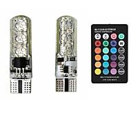 Недорогие -sencart 2x t10 6smd 5050 rgbw светодиодный фонарик для автомобилей с подсветкой супер яркий 16-цветная лампа для изменения ширины лампы с