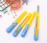 1 pc estudante de plástico arte faca papel cortador escritório fornecimento ferramentas de corte