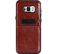 preiswerte -Hülle Für Samsung Galaxy S8 Plus S8 S7 edge S7 Kreditkartenfächer Stoßresistent Ultra dünn Rückseite Volltonfarbe Andere Weich PU-Leder