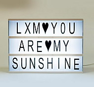 Недорогие -романтические подарки lightbox diy cute free cinematic light box with black + colorful letters set
