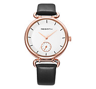 Women's Casual Watch Fashion Watch Wrist watch Chinese Quartz Water Resistant / Water Proof Leather Band Casual Elegant Minimalist Black