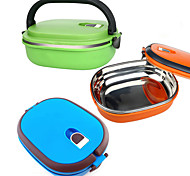 High Quality Portable Locked Bento Box Food Container Dinnerware Lunchbox Stainless 900ML Lunch Box
