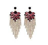 cheap -Women's Drop Earrings Rhinestone Statement Jewelry Elegant Rhinestone Alloy Flower Jewelry For Ceremony Stage