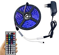 cheap -Light Bar Set 5M 5050 300 LED RGB Non-Waterproof 44 key Remote Control 12V 3A Power Adapter