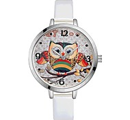 cheap -Women's Wrist watch Chinese Quartz Large Dial PU Band Casual Elegant Colorful Black White Red Brown Pink Purple Rose Pool Sky Blue