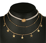 cheap -Women's Bohemian Star Layered Necklace - Bohemian European Star Necklace For Party Evening Party