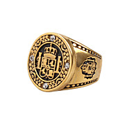 Муж. Массивные кольца Винтаж Рок Хип-хоп Массивные украшения Титановая сталь Бижутерия Назначение Повседневные