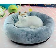 Недорогие -Кошка Собака Кровати Животные Валики и подушки Однотонный Мягкий Влажная чистка Серый Для домашних животных