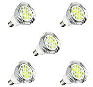 Недорогие -5 шт. 3 Вт. 260-300 lm E14 Точечное LED освещение E14 / E12 16 светодиоды SMD 5630 Светодиодные фонарики Тёплый белый Белый AC 220-240V