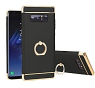 cheap -Case For Samsung Galaxy Note 8 Shockproof Plating Ring Holder 360° Rotation Back Cover Solid Color Hard TPU for Note 8