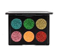 Недорогие -6 цвет блеск теней для век макияж золотой лук порошок блестками eyeshadow косметики
