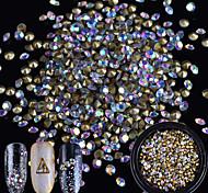 baratos -1pcs Purpurina / Ornamentos / Jóias de unha Rhinestone / Elegante & Luxuoso / Brilho & Glitter Cristal / Luxo / Design Moderno Diário