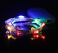1PCS HKV® 1M 10 LED Waterproof Copper Wire Lamp String Decorative Lamp DC 5V Batteries Not Included