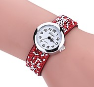 cheap -Women's Casual Watch Dress Watch Wrist watch Chinese Quartz PU Band Vintage Casual Bohemian Black Blue Red Grey Beige