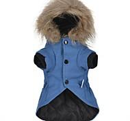 Недорогие -Кошка Собака Пальто Худи Рождество Одежда для собак Для вечеринки новый На каждый день Сохраняет тепло Для отдыха Простой стиль Однотонный