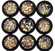 abordables -1 Bijoux à ongles Métallique Cristal Elégant Mode Adorable Haute qualité Quotidien