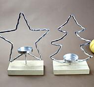 baratos -terno de uma peça simples estrela árvore forma candelabros de ferro candelabro