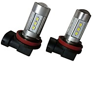 cheap -2pcs 9003 / H8 / 9006 Car Light Bulbs 35W SMD 3030 2800lm 10 Fog Light For universal All Models All years