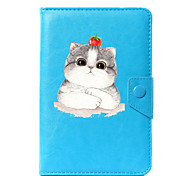 cheap -Case For Full Body Cases Tablet Cases Pattern Cat Hard PU Leather for