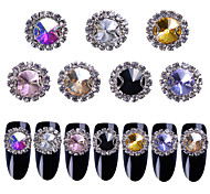 cheap -7 Colors,5pcs/Color,Total35pcs/set Glitter / Rhinestones / Nail Jewelry Rhinestone / Glitter & Sparkle / Sparkle & Shine Nail Art Design