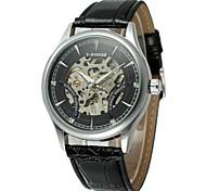 Недорогие -WINNER Муж. Модные часы Нарядные часы Наручные часы С автоподзаводом С гравировкой PU Группа Винтаж На каждый день Cool Черный Коричневый