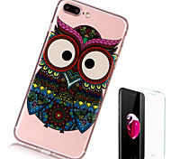 cheap -Case For Apple iPhone X iPhone 8 Plus Transparent Pattern Back Cover Owl Soft TPU for iPhone X iPhone 8 Plus iPhone 8 iPhone 7 Plus