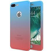Недорогие -Кейс для Назначение Apple iPhone X iPhone 8 Защита от удара Чехол Сплошной цвет Мягкий TPU для iPhone X iPhone 8 Plus iPhone 8 iPhone 7