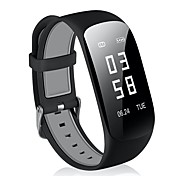 cheap -Smart Bracelet Heart Rate Monitor Prevent Loss Pedometers Call Reminder Heart Rate Sensor Message Reminder Pedometer Remote Control