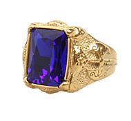 cheap -Men's Cubic Zirconia Zircon Statement Ring - Vintage / Statement / Hip-Hop Red / Green / Blue Ring For Daily / Casual