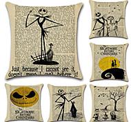 Недорогие -набор из 6 старинных газетных дизайн тыква подушка крышка новинка мультфильм подушка крышка 45 * 45 см
