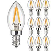 10 Piezas 2W Bombillas de Filamento LED 2 leds COB Blanco Cálido 150lm 3000K AC 100-240V