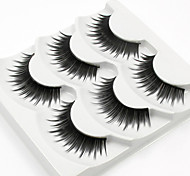 cheap -Eyelash 3 Casual/Daily Full Strip Lashes Lengthens the End of the Eye Best Quality