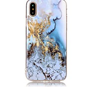 cheap -Case For Apple iPhone X iPhone 8 IMD Pattern Back Cover Marble Soft TPU for iPhone X iPhone 8 Plus iPhone 8 iPhone 7 Plus iPhone 7 iPhone