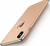 Недорогие -Кейс для Назначение Apple iPhone X iPhone 8 Кейс для iPhone 5 iPhone 6 iPhone 7 Покрытие Кейс на заднюю панель Сплошной цвет Твердый ПК