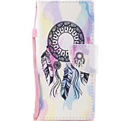 cheap -Case For Sony Sony Xperia XA Xperia XA1 Xperia E5 Card Holder Wallet with Stand Flip Pattern Full Body Cases Dream Catcher Hard PU Leather