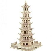 Недорогие -3D пазлы Наборы для моделирования Модель дерева Игрушки Башня 3D Домики Мода Для детской Горячая распродажа Классика Мода Новый дизайн